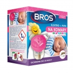 BROS elektrofumigator + płyn na 60 nocy 40 ml sensitive KOMARY