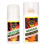 MUGGA EXTRA STRONG DEET 50% spray 75 ml + roll-on 50 ml na KOMARY i KLESZCZE