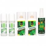 2x MUGGA DEET 9,5% spray + 2x MUGGA DEET 20% roll-on + Tropical FORMULA DEET 15% spray