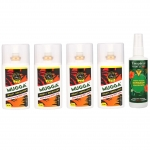 4x MUGGA EXTRA STRONG DEET 50% spray + Tropical FORMULA DEET 15% spray